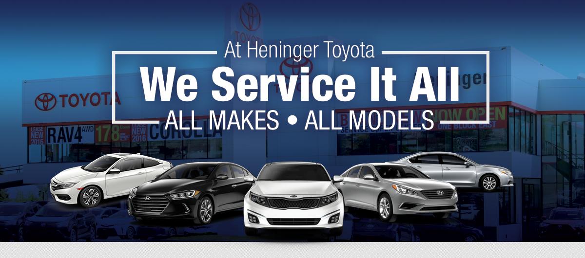 We Service All Makes, All Models | Heninger Toyota in Calgary, AB ...