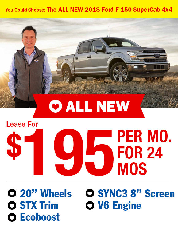2017 Ford F-150: Lease For $159/mo.