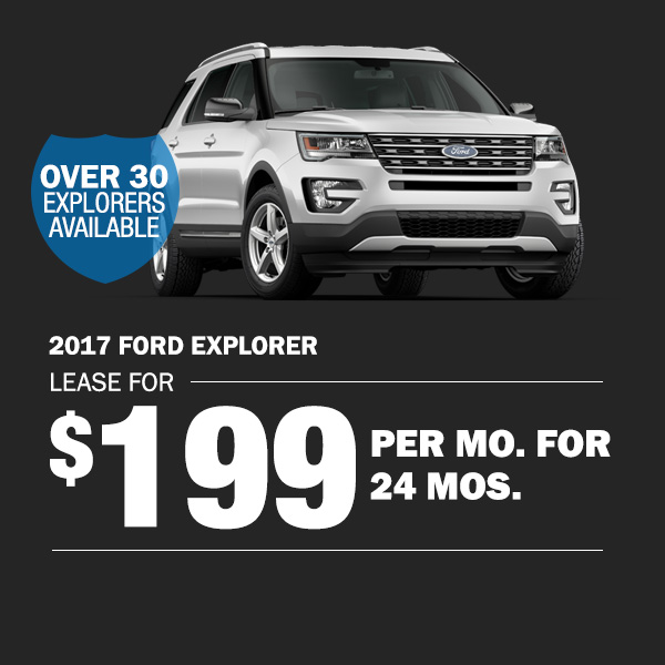 2017 Ford Explorer: Lease for $199