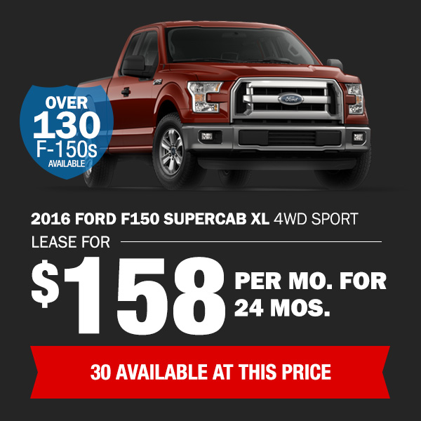 2016 Ford F-150: Lease for $158