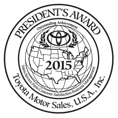 2015 Toyota Presidents' Award Winner