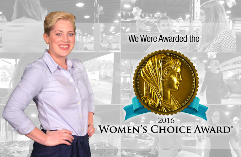We've Qualified for the Women's Choice Award