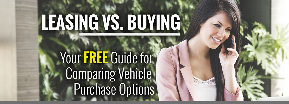 LEASING VS. BUYING – Your FREE Guide for Comparing Vehicle Purchase Options – Women talking on cell phone