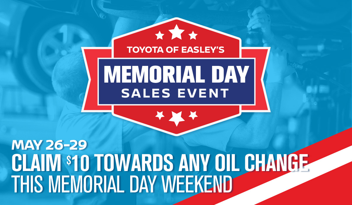 May 26-29: Claim $10 Towards Any Oil Change This Memorial Day Weekend