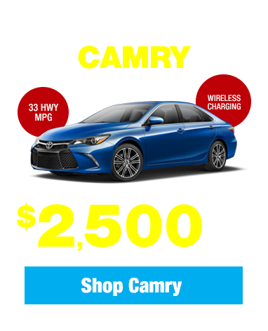 New 2017 Toyota Camry: Get $2,500 Cash Back!