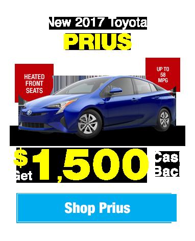 New 2017 Toyota Prius: Get $1,500 Cash Back!