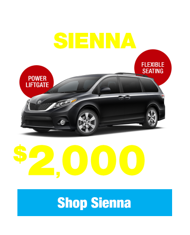 New 2017 Toyota Sienna: Get $2,000 Cash Back!
