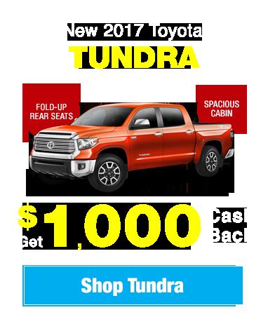 New 2017 Toyota Tundra: Get $1,000 Cash Back!