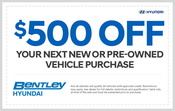$500 Off on your next new or pre-owned vehicle