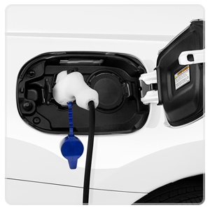 Close up of the charging port for the 2018 Outlander PHEV