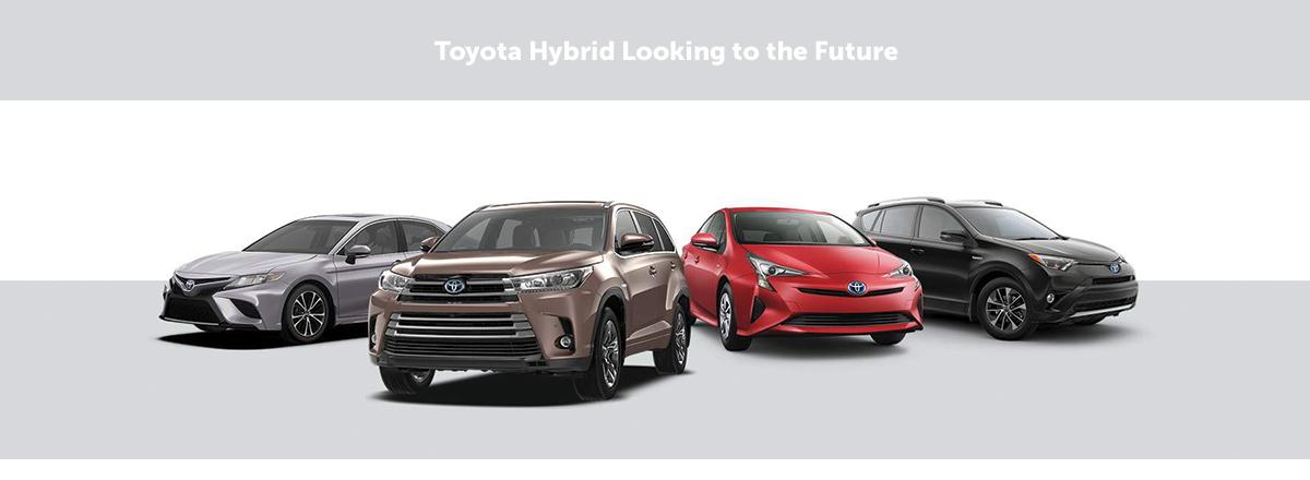 Hybrid Vehicle on the road.