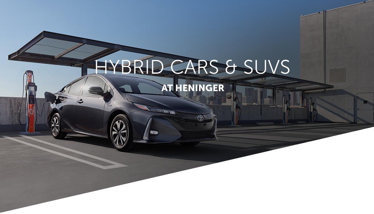 Hybrid Cars at Heninger. Toyota Prius at charging center.