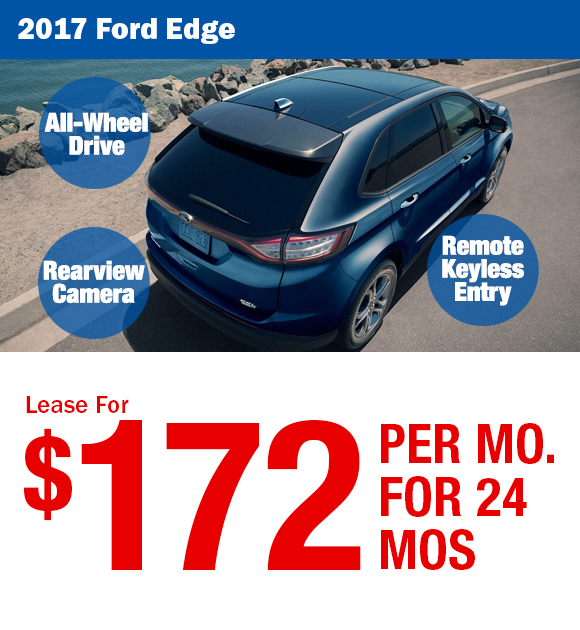 2017 Ford Edge: Lease For $163/mo.