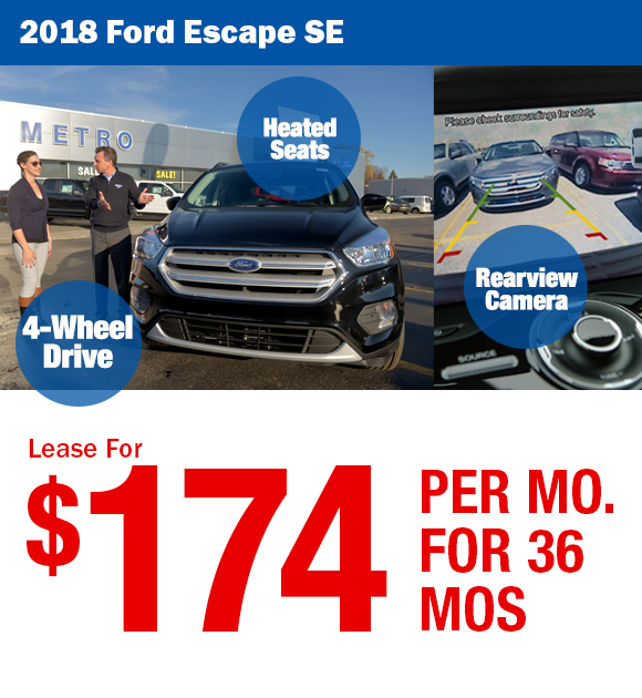 2017 Ford Escape: Lease For $113/mo. or Buy for $18,999 After Rebates