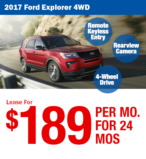 2017 Ford Explorer: Lease For $173/mo.