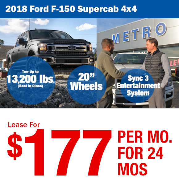 2018 Ford F-150: Lease For $195/mo.