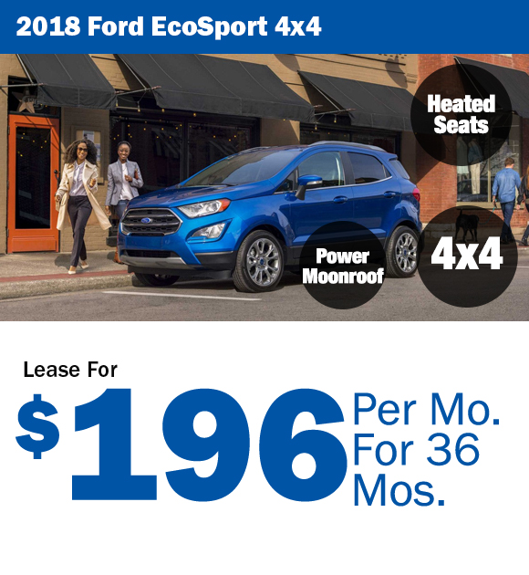 2018 Ford Ecosport: Lease for $196