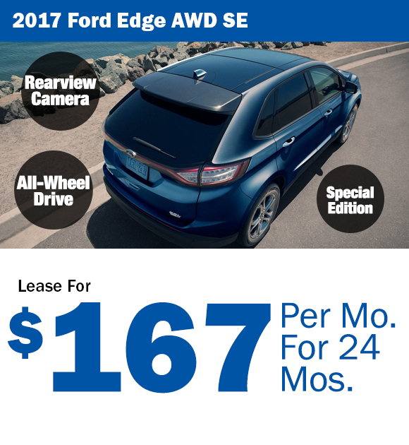 2017 Ford Edge: Lease For $167/mo.