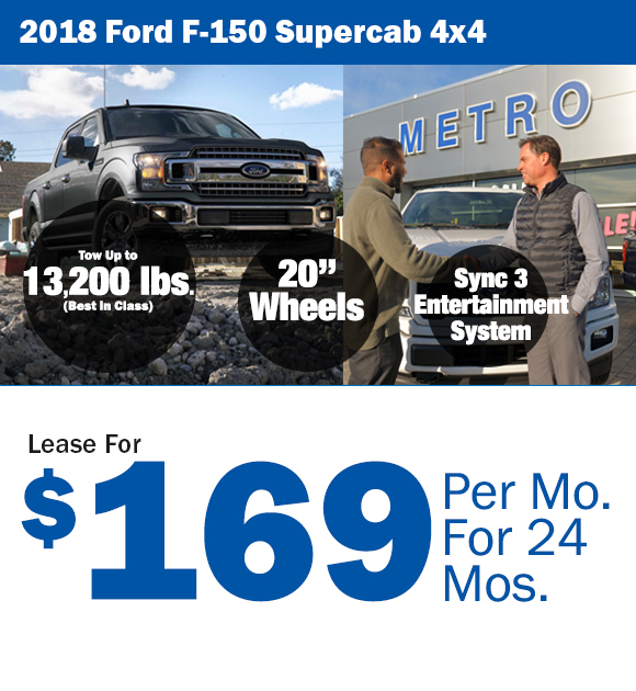 2018 Ford F-150: Lease For $169/mo.