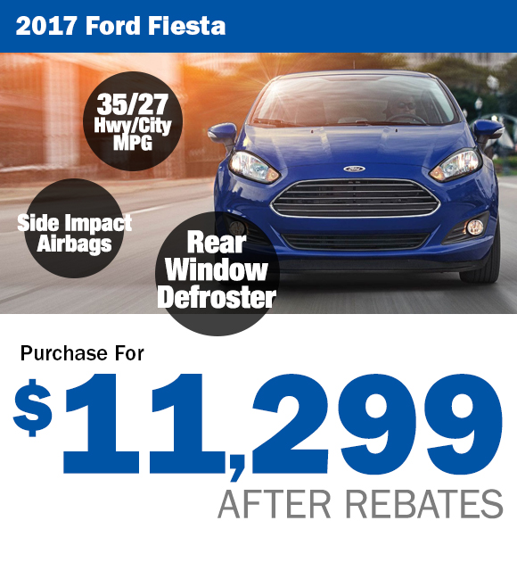 2017 Ford Fiesta: $11,299 After Rebates