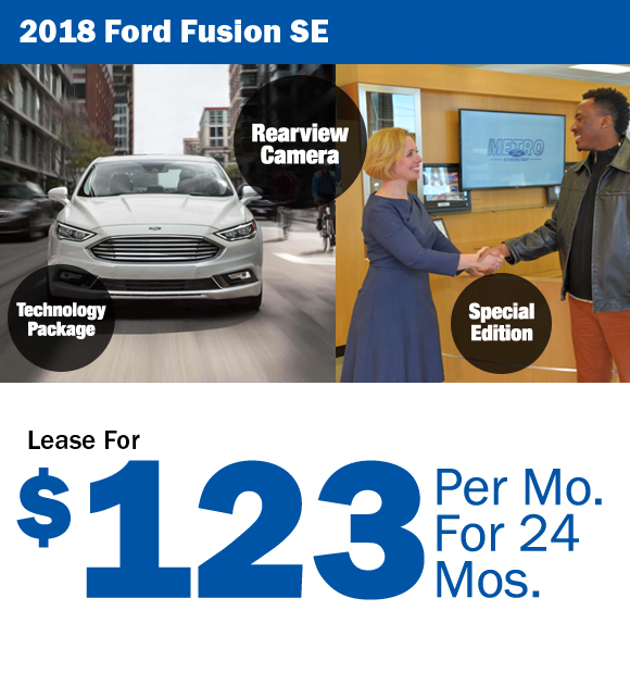 2018 Ford Fusion: Lease For $123/mo.