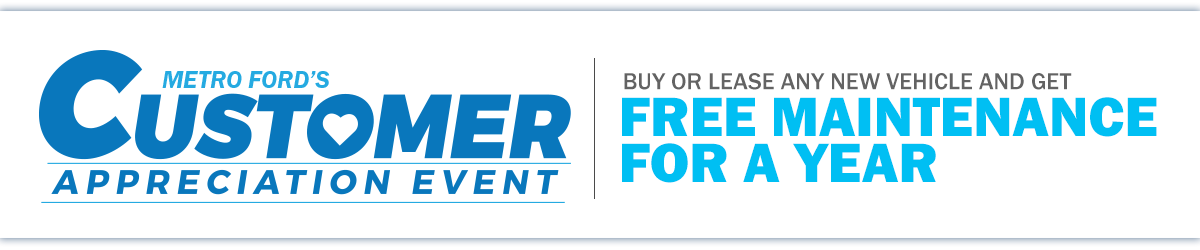 Customer Appreciation Event: Buy or Lease Any Vehicle and Get Free Maintenance For a Year