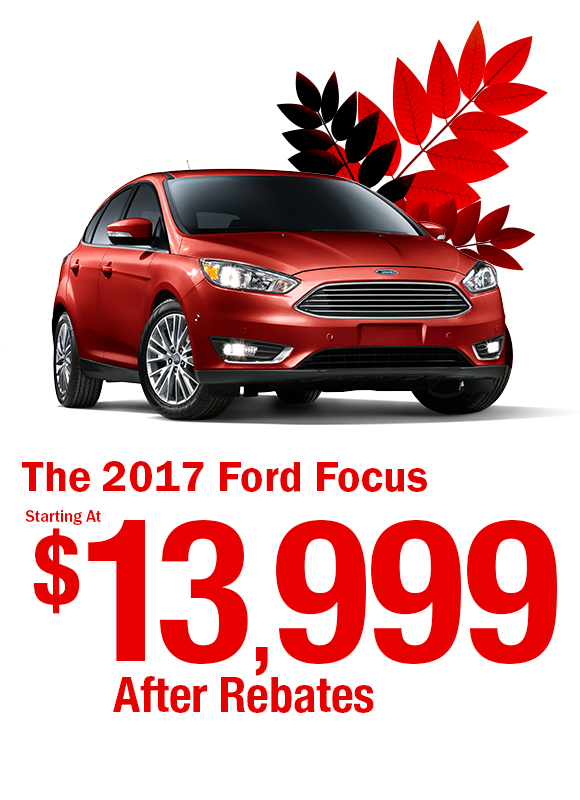 2017 Ford Focus: $13,999 After Rebates