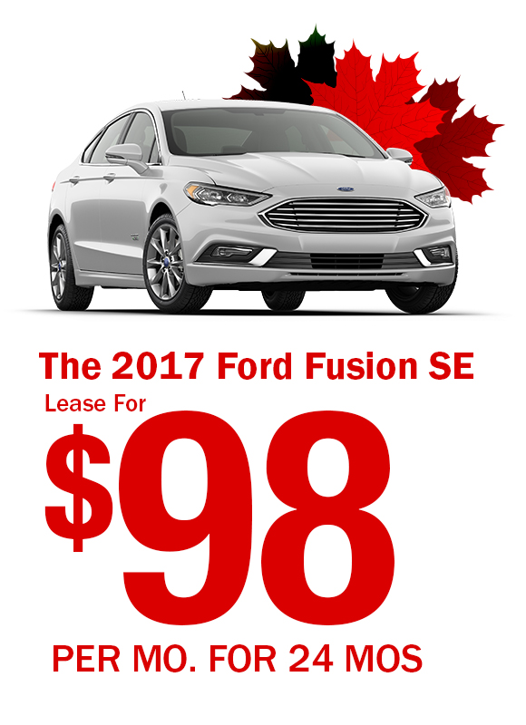2017 Ford Fusion: Lease For $98/mo.
