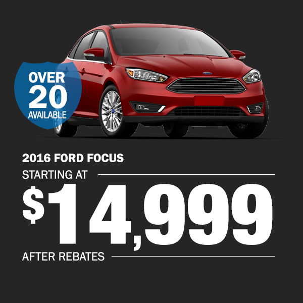 2016 Ford Focus: Starting at $14,999