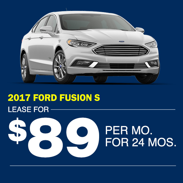 2017 Ford Fusion S Lease for $89 per mo. for 24 mos.  sc 1 st  Metro Ford & New Vehicle Lease Specials | Metro Ford markmcfarlin.com