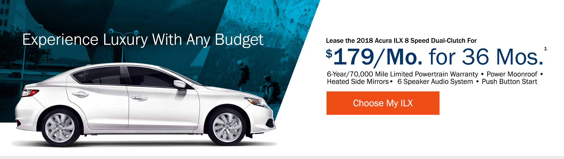 Lease the 2018 Acura ILX 8 Speed Dual-Clutch for $199 per month for 36 months - Shop ILX