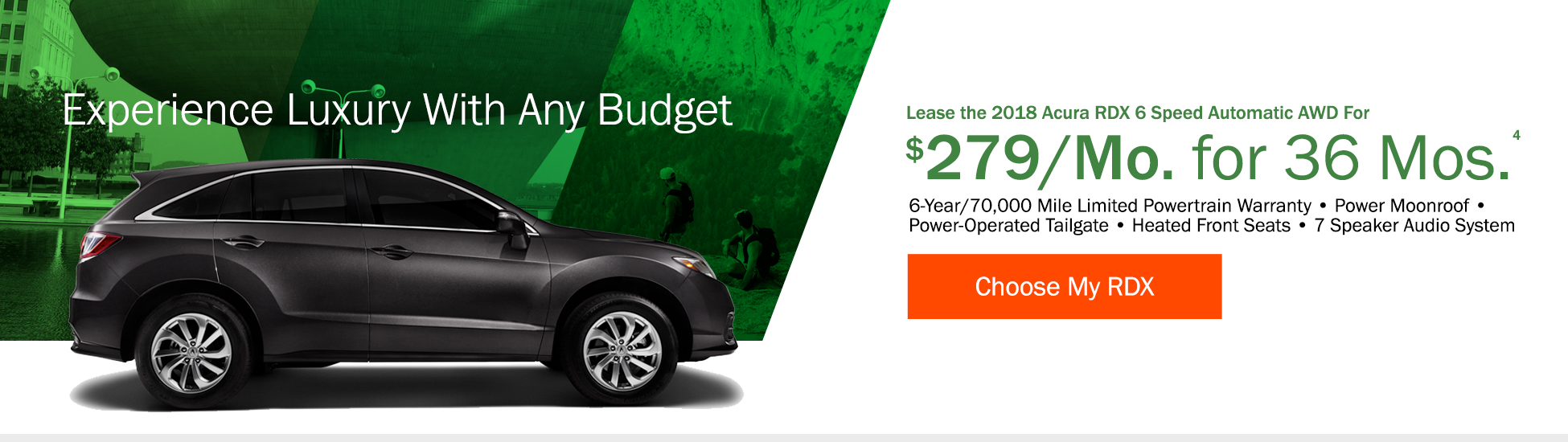 Lease the 2018 Acura RDX 6 Speed Automatic AWD for $299 per month for 36 months - Shop RDX