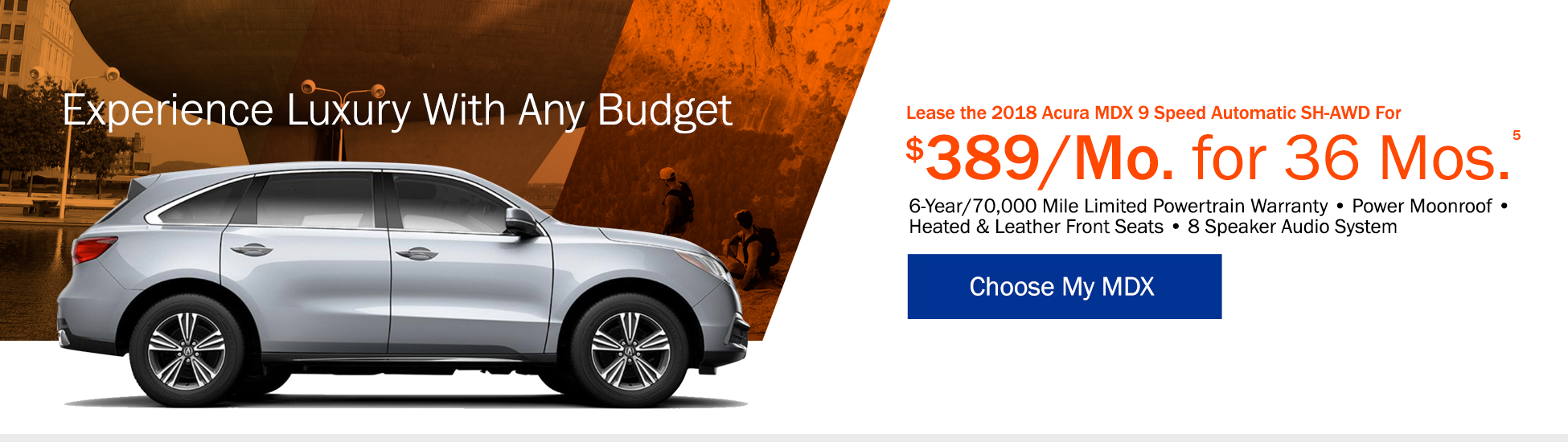 Lease the 2018 Acura MDX 9 Speed Automatic SH-AWD for $429 per month for 36 months - Shop MDX