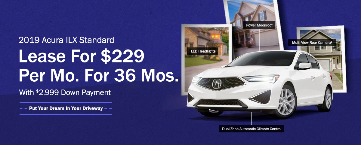 2019 Acura ILX Standard - Lease For $229 Per Mo. For 36 Mos. With $2,999 Down Payment