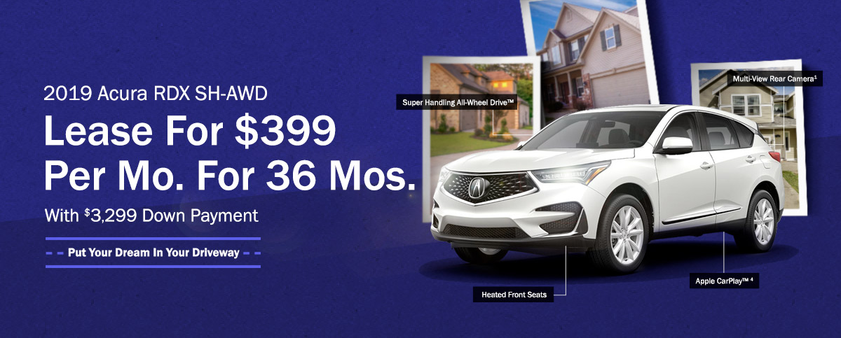 2019 Acura RDX SH-AWD - Lease For $399 Per Mo. For 36 Mos. With $3,299 Down Payment