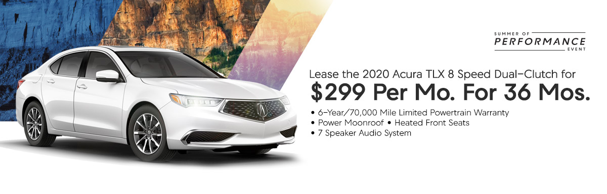 Lease the 2019 Acura TLX 8 Speed Dual-Clutch for $319 Per Month for 36 Months
