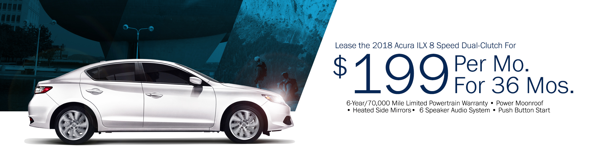Lease the 2018 Acura ILX 8 Speed Dual Clutch for $199 Per Month, $2,499 Due at Signing