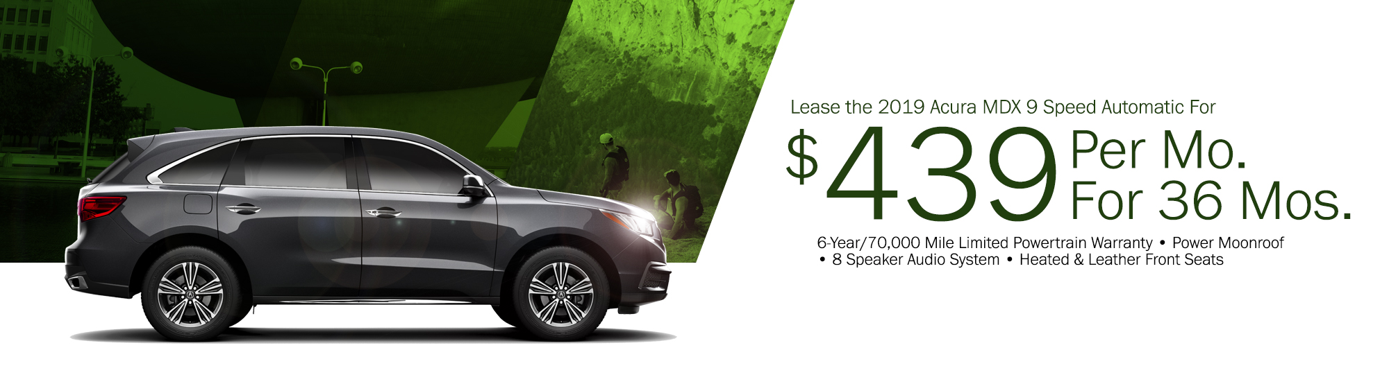 Lease the 2018 Acura MDX 9 Speed Automatic For $419 Per Month, $2,799 Due at Signing