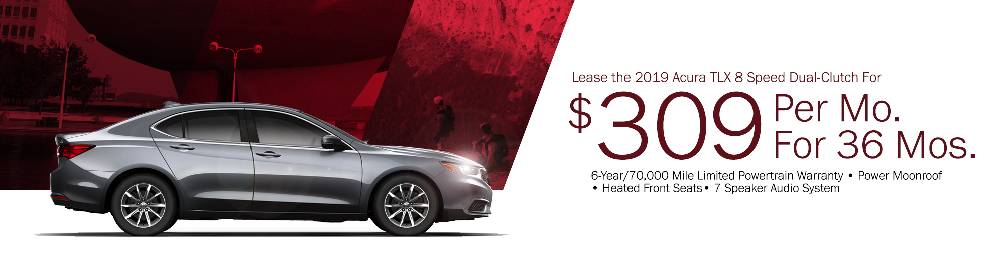 Lease the 2019 Acura TLX 8 Speed Dual Clutch For $329 Per Month, $2,499 Due at Signing