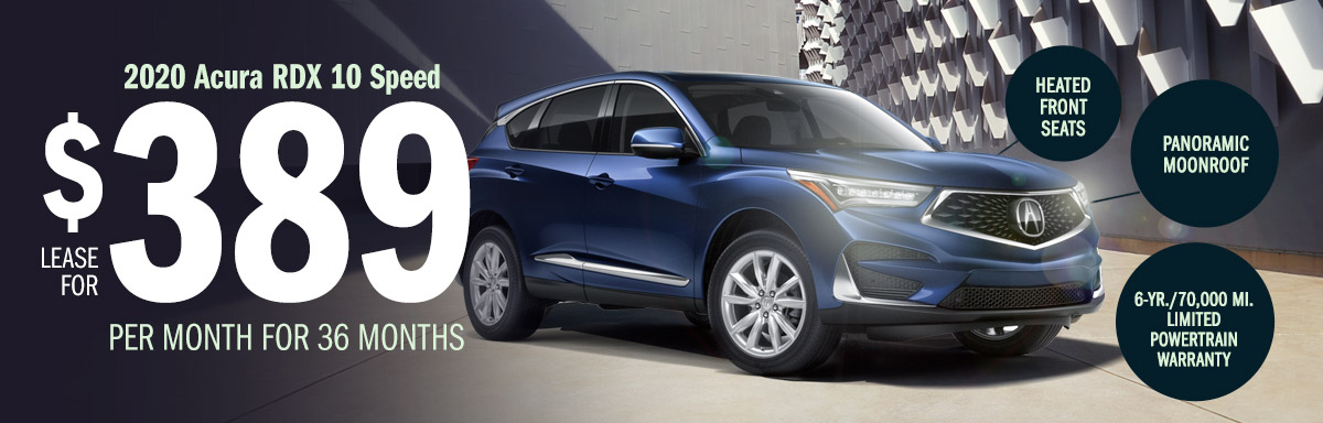 Lease the 2020 Acura RDX 10 Speed Automatic for $389 Per Month for 36 Months