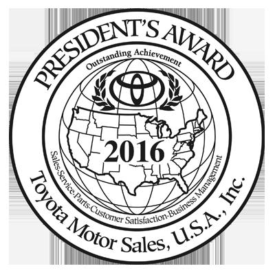 2016 Toyota Presidents' Award Winner