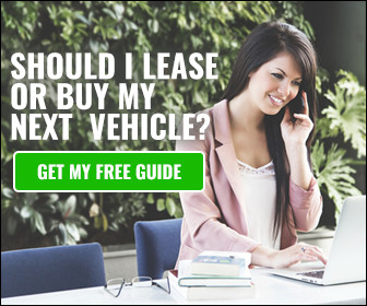 SHOULD I LEASE OR BUY MY NEXT VEHICLE? GET MY FREE QUOTE – Women smiling on cell phone looking at computer
