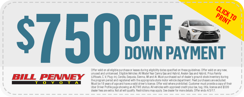 Bill penney toyota coupons