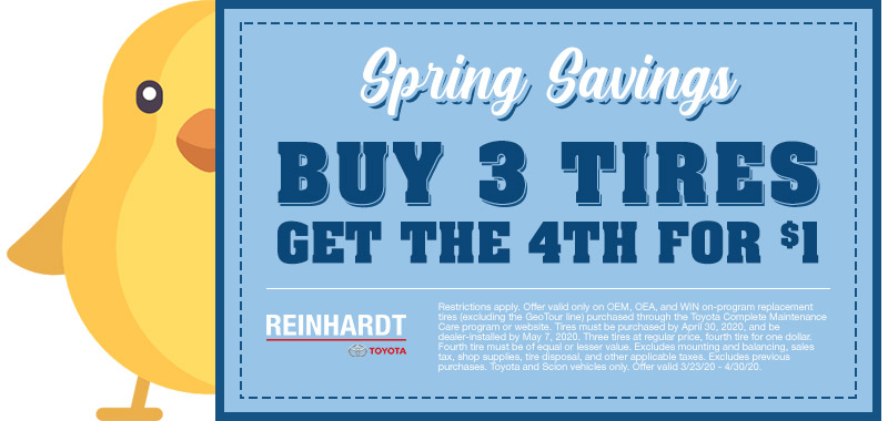 Spring Savings: Buy 3 Tires get the 4th for $1.