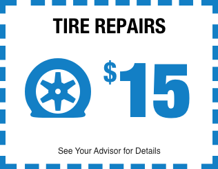 Tire Repairs $15