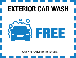 FREE Exterior Car Wash