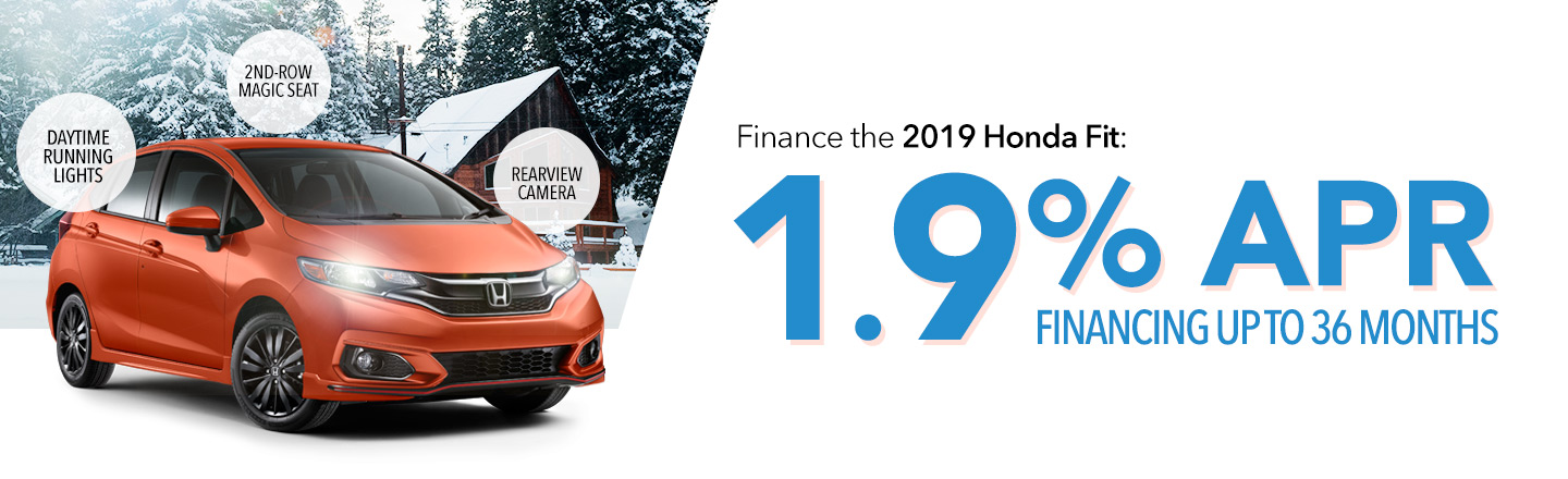 Finance the 2019 Honda Fit: 1.9% APR Financing Up To 36 Months