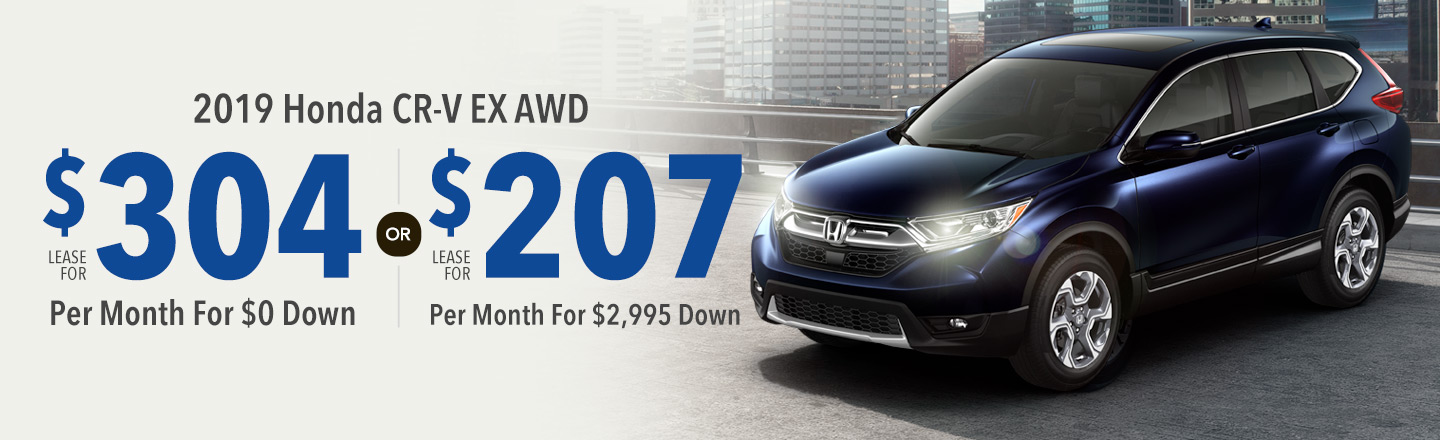 Lease the 2019 Honda CR-V EX AWD for $207 Per Month For 36 Months with $2,995 Down
