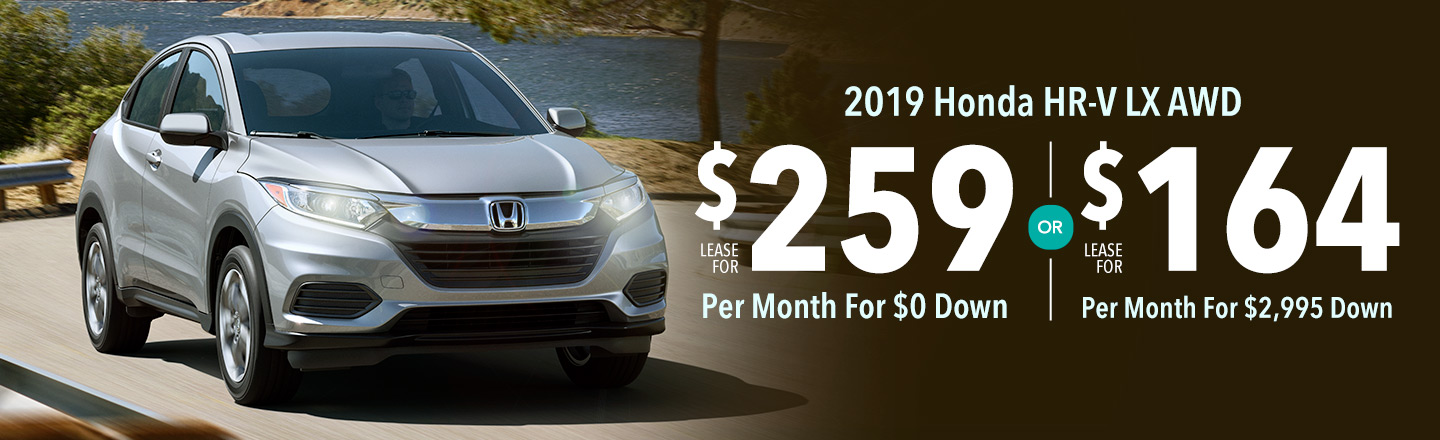 Lease the 2019 Honda HR-V LX AWD for $164 Per Month For 36 Months With $2,995 Down