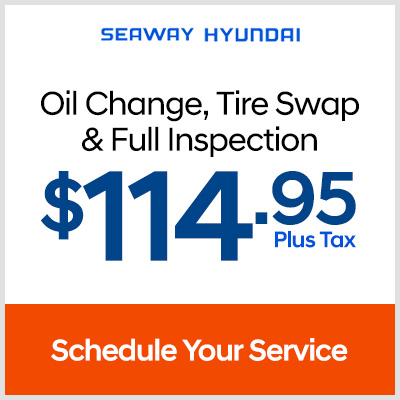 OOil change, tire swap, full inspection - $114.95 plus tax